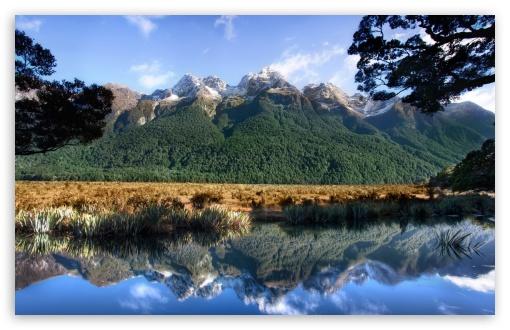 Download Mirror Lake New Zealand UltraHD Wallpaper