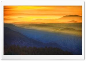 Amazing Sunset In Yosemite