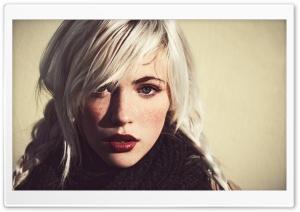 Girl White Hair and Dark...
