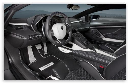 Download Lamborghini Aventador LP700 4 Car Interior UltraHD Wallpaper