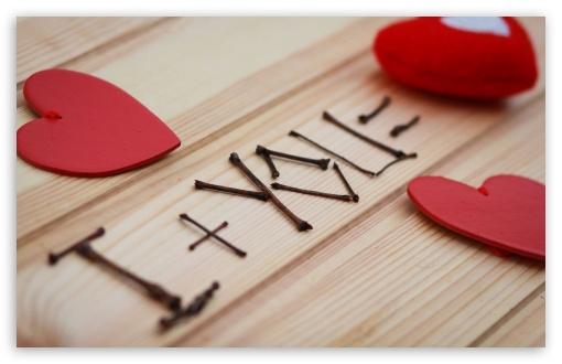 Download Heart Sticks Love Recognition Telasm UltraHD Wallpaper
