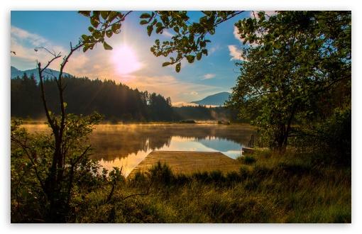 Download Sun Rise Carinthia Austria Egelsee UltraHD Wallpaper