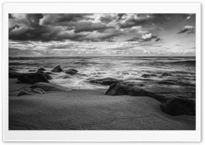Sea Shore Black And White