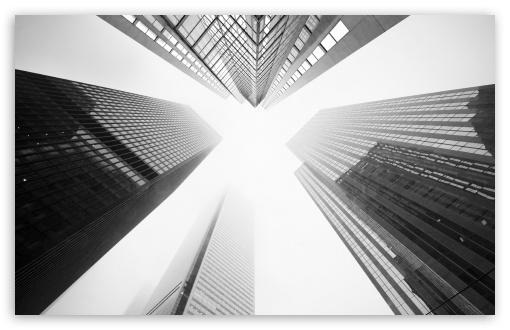 Download Toronto Skyscrapers Black and White UltraHD Wallpaper
