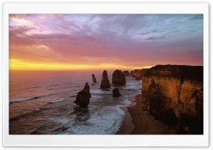 Twelve Apostles At Sunset,...