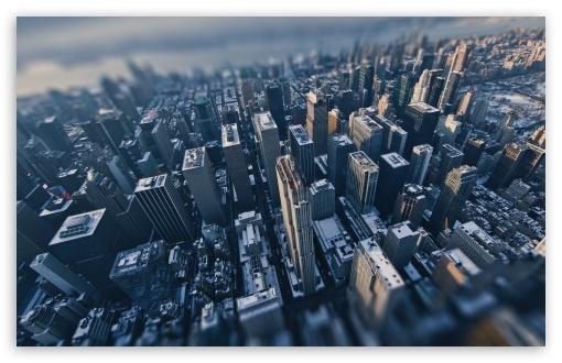 Download Aerial View of New York City Tilt-Shift... UltraHD Wallpaper