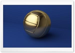 Gold Football Ball