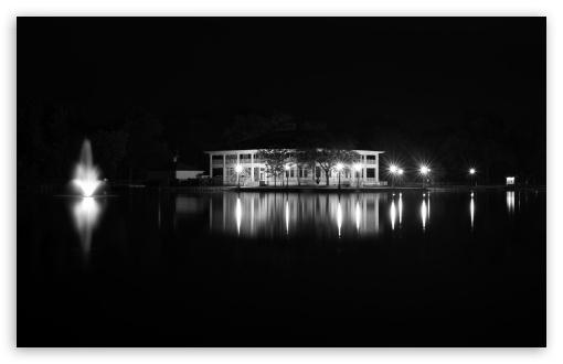 Download Buhl Park Casino Black and White UltraHD Wallpaper