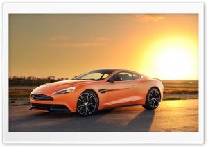 Orange Aston Martin Vanquish Car