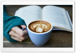 Drinking Coffee While Reading
