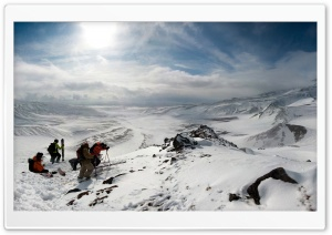 Skiers On Top Of The Mountain