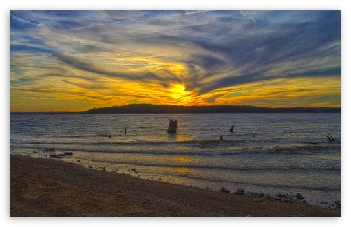 Download Clinton Lake Sunset UltraHD Wallpaper