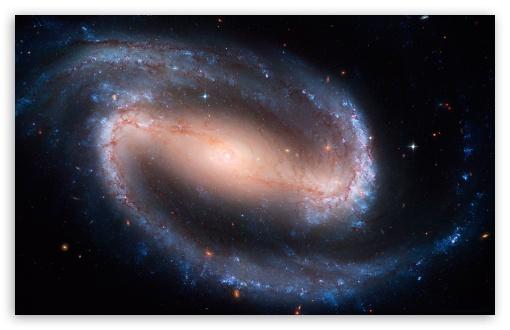 Download Barred Spiral Galaxy UltraHD Wallpaper