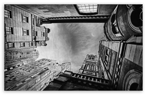 Download Looking up at Buildings UltraHD Wallpaper