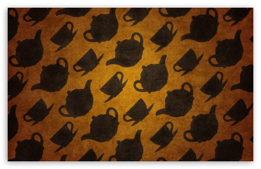 Download Teacups Pattern UltraHD Wallpaper