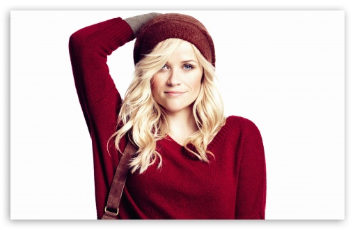 Download Reese Witherspoon In Red UltraHD Wallpaper