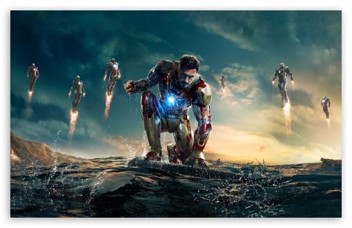 Download Iron Man 3 Iron Man vs Mandarin UltraHD Wallpaper