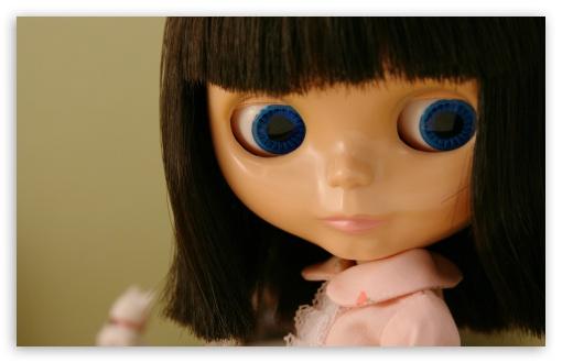 Download Blue Eyes Doll UltraHD Wallpaper
