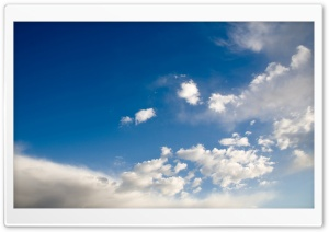 Deep Blue Sky With White Clouds