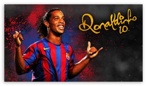 Download Ronaldinho Barcelona UltraHD Wallpaper