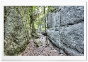 Walking Between Rock Walls...