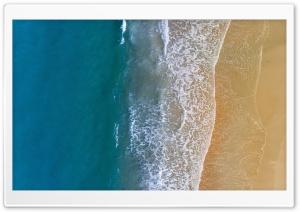 Sandy Beach Ocean Waves...