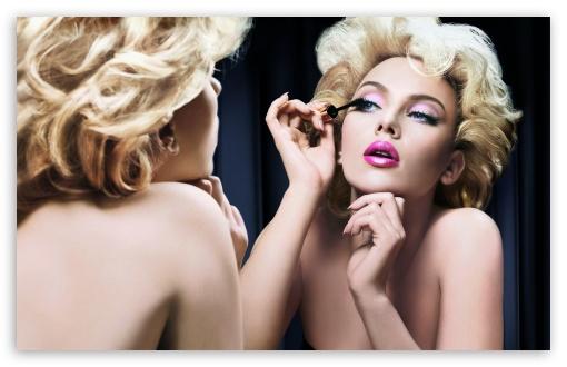 Download Scarlett Johansson Makeup UltraHD Wallpaper
