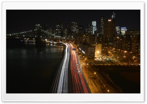 Manhattan Traffic At Night
