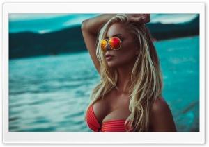 Summer, Blonde Woman
