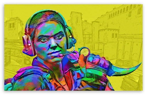 Download CSGO - Toxic - Yellow UltraHD Wallpaper