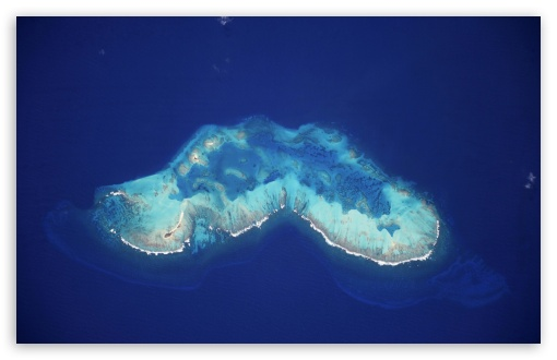 Download Atoll in the Caribbean Sea UltraHD Wallpaper