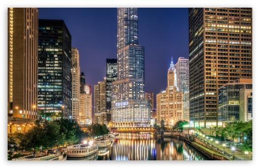 Download Chicago City Illinois UltraHD Wallpaper