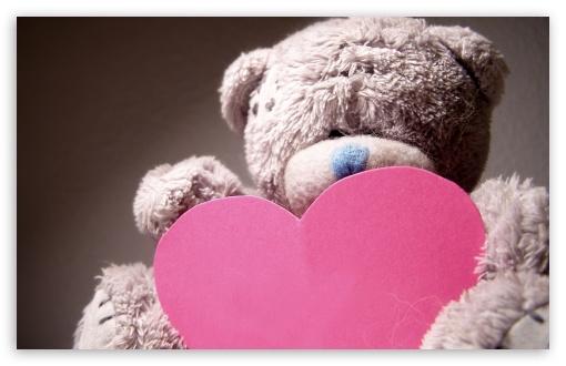 Download Valentines Day Teddy Bear UltraHD Wallpaper