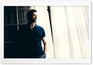 Hugh Jackman In Polo Shirt