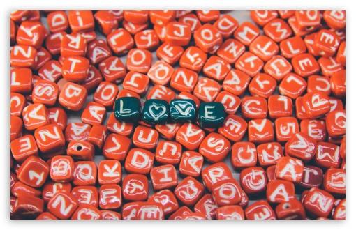 Download Love heart in Red UltraHD Wallpaper