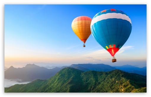 Download Travel the World, Hot Air Balloons UltraHD Wallpaper