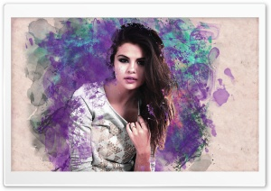 Selena Gomez Colorful
