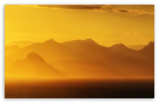 Download Golden Sunset, Isle of Arran, Scotland UltraHD Wallpaper