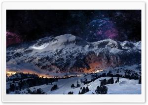 Night Sky Snow