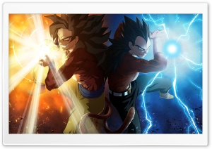 Vegeta and Goku by Madan