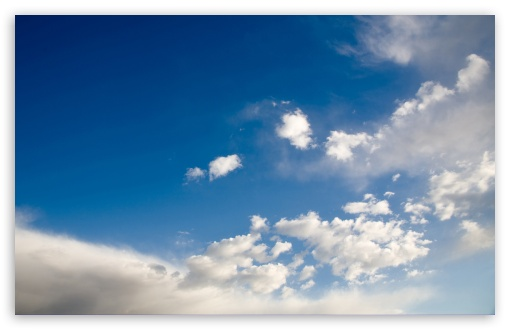 Download Deep Blue Sky With White Clouds UltraHD Wallpaper