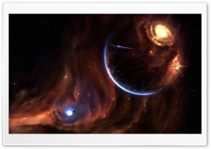 Explosion On Planet Starships