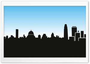 City Skyline Silhouette Cartoon