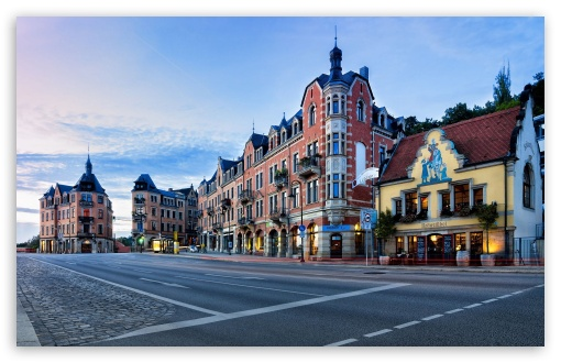 Download Dresden City In Germany Early Morning UltraHD Wallpaper