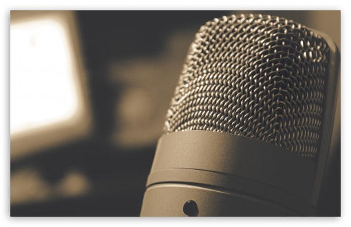 Download Microphone UltraHD Wallpaper