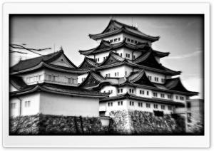 Nagoya Castle In Black And White