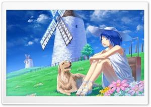 Anime Girl With Her Pet Dog