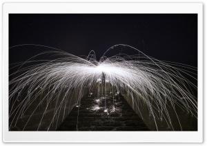 Spinning Burning Steel Wool...