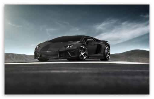 Download Black Lamborghini Aventador Supercar UltraHD Wallpaper