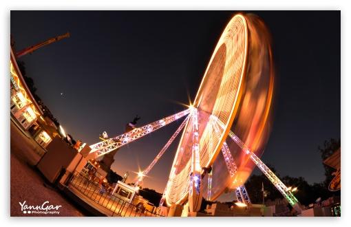 Download Ferris Wheel in Bordeaux, France UltraHD Wallpaper
